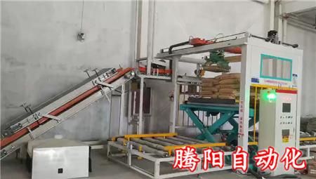 码垛机可以代替3-5名人工在工厂使用形式大好