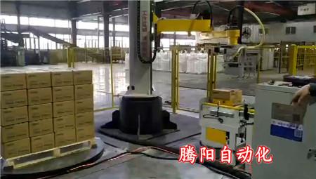 立柱码垛机应用于多种生产线降低生产成本获得更好经济效益